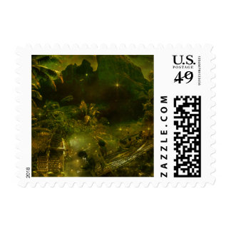 A Beautiful South Pacific Paradise Postage Stamp