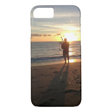 Beach Themed a beautiful sunrise at the beach with music iPhone 7 case