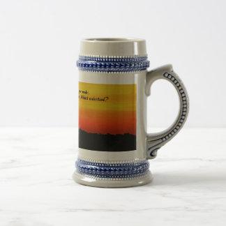 A  Beautiful sunrise Beer Stein