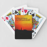 A  Beautiful sunrise Bicycle Card Deck