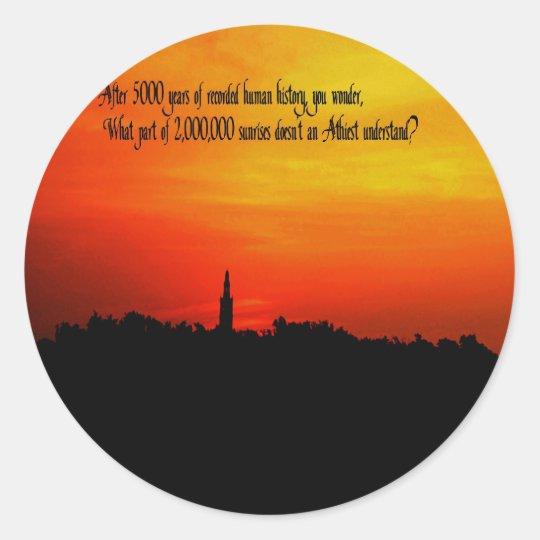 A  Beautiful sunrise Classic Round Sticker