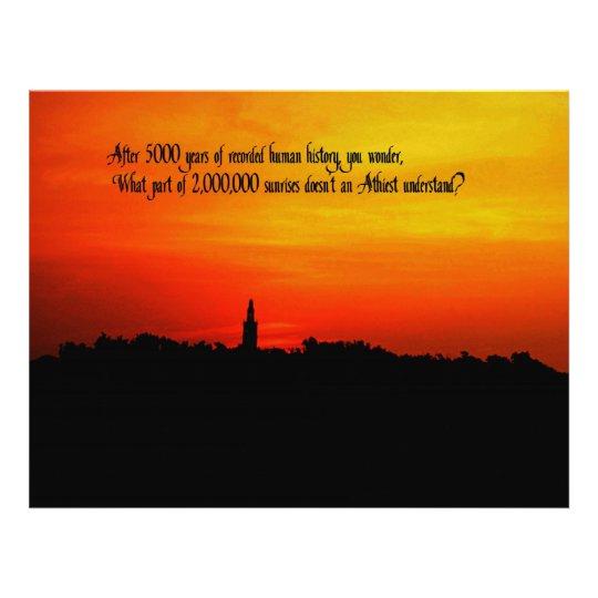 A  Beautiful sunrise Letterhead