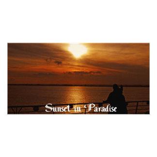 A Beautiful sunset on a Cruise Ship Card