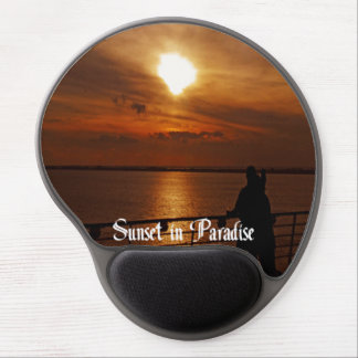 A Beautiful sunset on a Cruise Ship Gel Mouse Pad