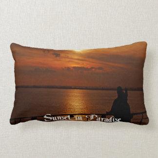 A Beautiful sunset on a Cruise Ship Lumbar Pillow