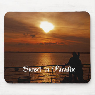 A Beautiful sunset on a Cruise Ship Mouse Pad