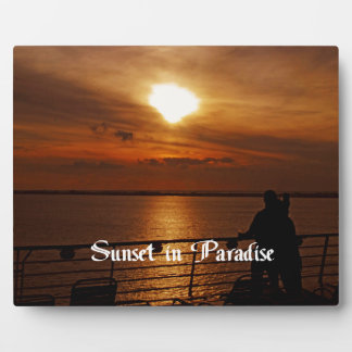 A Beautiful sunset on a Cruise Ship Plaque