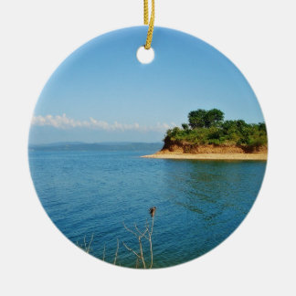 A Beautiful View Of An Island Double-Sided Ceramic Round Christmas Ornament