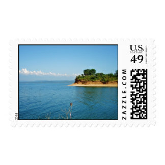 A Beautiful View Of An Island Postage