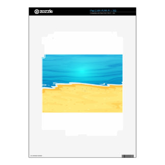 A beautiful view of the beach iPad 2 decals