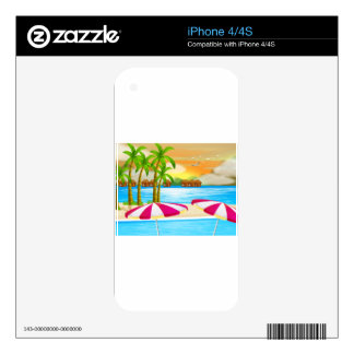 A beautiful view of the beach skin for iPhone 4S