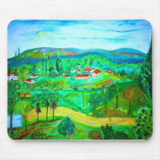 A Beautiful Village in the Jerusalem Hills, origin Mouse Pad