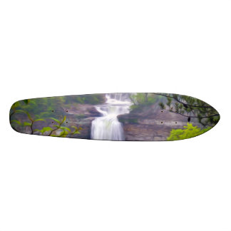 A Beautiful Waterfall In The Deep Forests Of North Skateboard Deck
