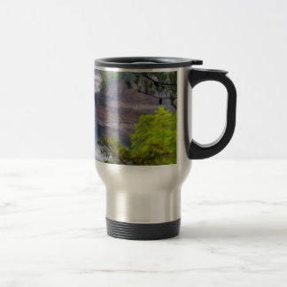 A Beautiful Waterfall In The Deep Forests Of North Travel Mug