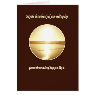 A Beautiful Wedding Wish Greeting Card
