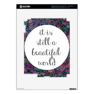 A Beautiful World iPad 3 Decal