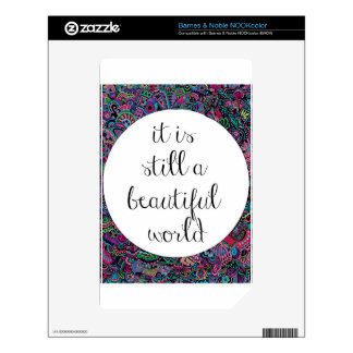 A Beautiful World NOOK Color Decals