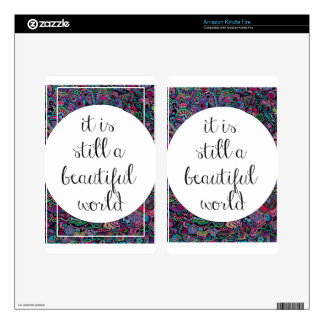 A Beautiful World Skin For Kindle Fire