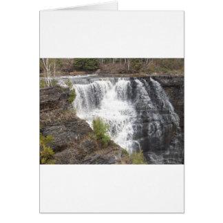 A beautifull river rushing strong card