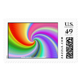 A beautifully coloured fractal stamp / postage