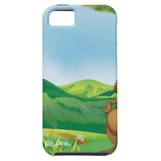 A beaver holding a stick under the tree iPhone 5 cases