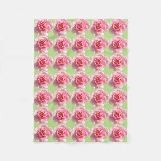 A Bed of Roses Fleece Blanket