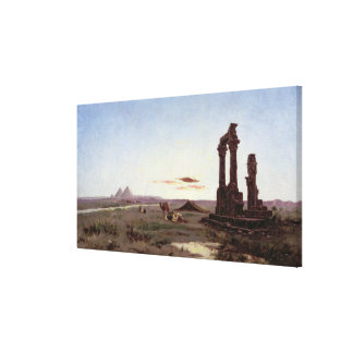 A Bedouin Encampment by a Ruined Temple Canvas Print