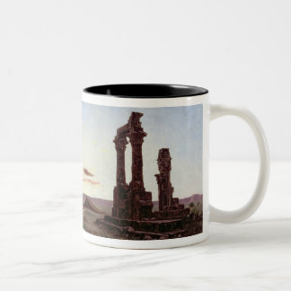 A Bedouin Encampment by a Ruined Temple Two-Tone Coffee Mug