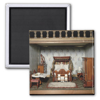 A bedroom in 'Mrs Bryant's Pleasure', c.1860 2 Inch Square Magnet
