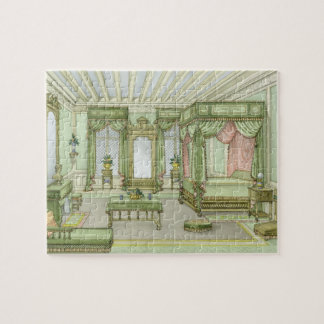 A Bedroom interior in Henri II style (colour litho Jigsaw Puzzle