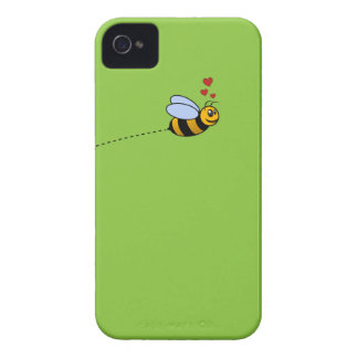 A Bee in Love iPhone 4 Case