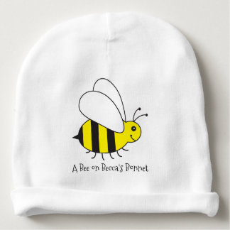 A Bee on Her Bonnet Personalized Baby Bumble Bee Baby Beanie