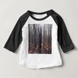 A beech forest in fall. baby T-Shirt
