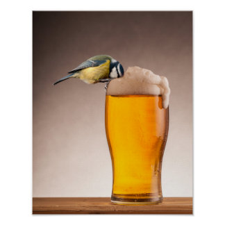 A beer for the birds poster