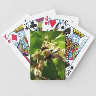 A Bees Texture Bicycle Playing Cards