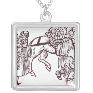A Beggar Family Silver Plated Necklace