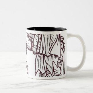 A Beggar Family Two-Tone Coffee Mug