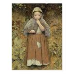 A Beggar on the Path, 1856 Postcard