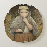A Beggar on the Path, 1856 Round Pillow