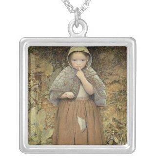 A Beggar on the Path, 1856 Silver Plated Necklace
