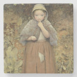 A Beggar on the Path, 1856 Stone Beverage Coaster