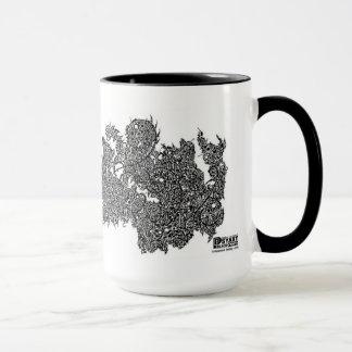 A Behemoth Battling a Griffin Mug