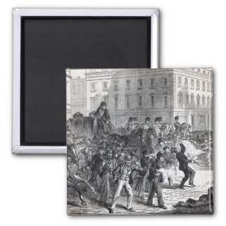 A Belfast Riot 2 Inch Square Magnet