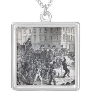 A Belfast Riot Square Pendant Necklace