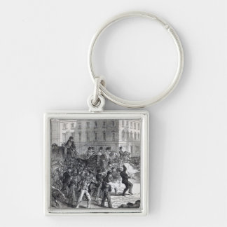 A Belfast Riot Silver-Colored Square Keychain