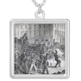 A Belfast Riot Silver Plated Necklace