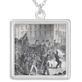 A Belfast Riot Square Pendant Necklace