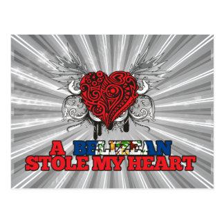 A Belizean Stole my Heart Postcard