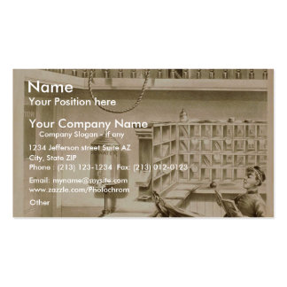 A Bell Boy, 'Use of Fire escape' Retro Theater Double-Sided Standard Business Cards (Pack Of 100)