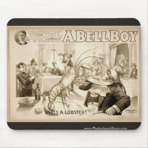 A Bell Boy, 'Who's a Lobster?' Retro Theater Mousepads